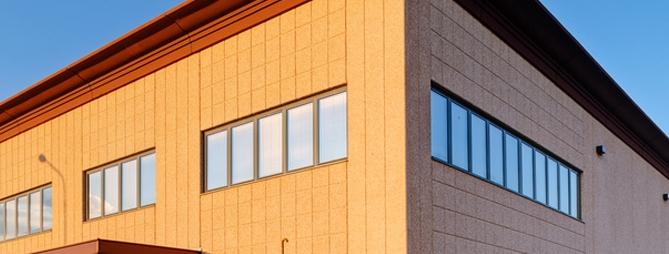Usinage panneau facade