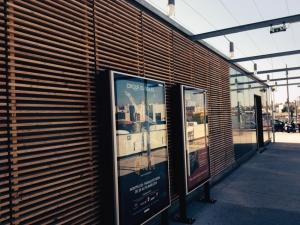 Brise-soleil en bois de la gare de Montpellier