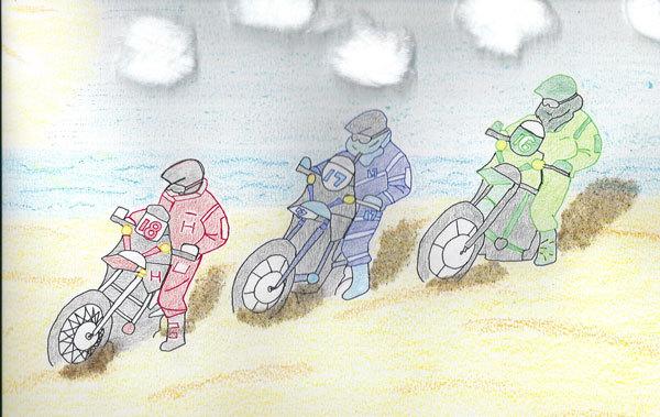 """dessin réalisé pour l'association """"un hôpital pour les enfants"""" au cours du Dakar 2013"""