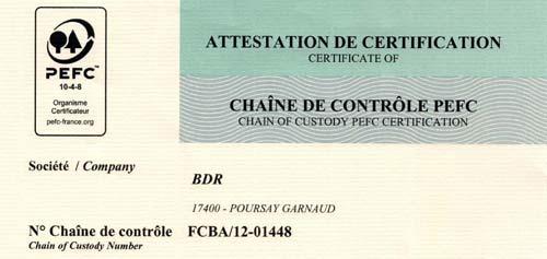 Renouvellement de notre certification PEFC