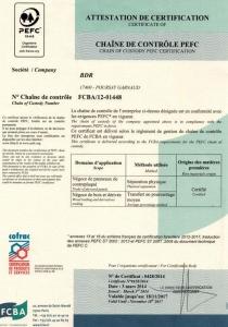 PEFC certification