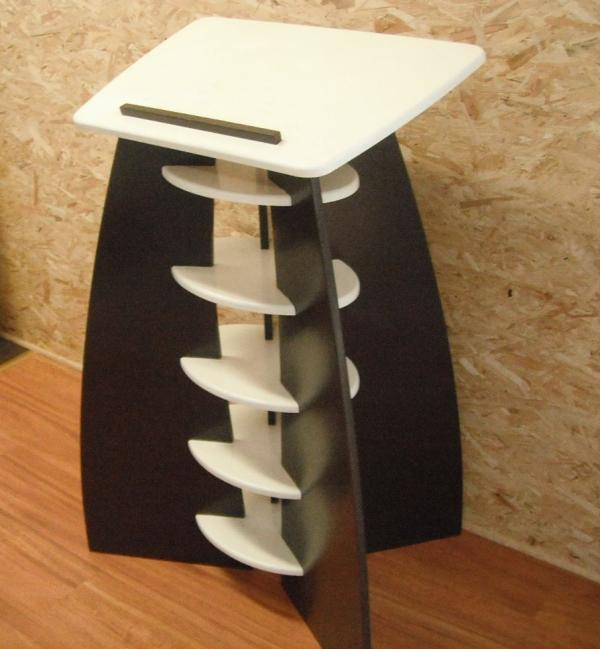 pupitre ergonomique bois noir et blanc