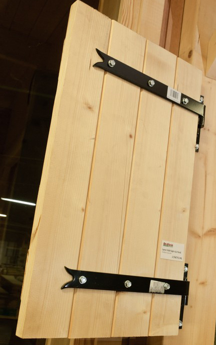 volet bois massif panneaux